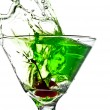 Apple Martini Splash — Stock Photo