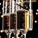 元旦前夜香槟 — 图库照片