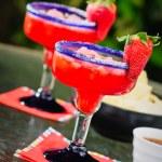 Strawberry Frozen Margaritas — Stock Photo