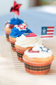Fourth Of July Cupcakes — Stock Photo