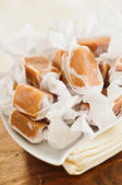 Individually Wrapped Caramel Candies — Стоковое фото