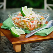 Ceviche and Chips — Stock Photo