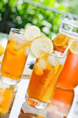 Iced Tea Outdoors — Stock Photo