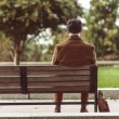 Man Relaxing On A Park Bench — Stock Photo