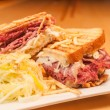 Corned Beef and Pastrami Sandwich — Stock Photo #27162081