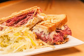 Corned Beef and Pastrami Sandwich — Stock Photo