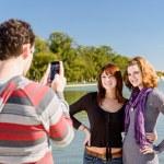 ������, ������: Tourist Couple Taking Pictures In Washington DC