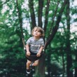 Young toddler boy at the park portrait — Stock Photo #47182395