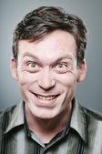 Crazy faced man — Stock Photo