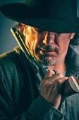 Divoký západ pistolník — Stock fotografie