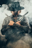 Wild west Gunslinger — Stock Photo