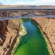 Marble Canyon under Navajo Bridge — Stock Photo