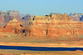 Golden sandstone formation on Lake Powell — Stock Photo