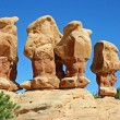 Four hoodoos in Devil's Garden — Stock Photo