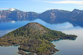 Wizard Island on Crater Lake, Oregon — Stock Photo