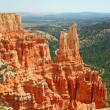 Red cliffs over Bryce Canyon, Utah — Stock Photo