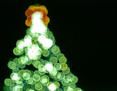 Blurred lights in form of Christmas Tree — Stock Photo