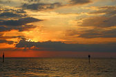 Dramatic sky over the gulf — Stock Photo