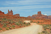 Dirt road through Valley of the Gods — Stock Photo