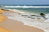 Waves on Sandy Beach — Stock Photo