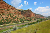 Railway line in Echo Canyon — Stock Photo