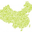 Background of chinese environmental protection - Stock Vector