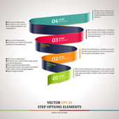 Modern zigzag infographic, steps paper strip template — Stock Vector