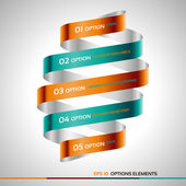 Modern zigzag infographic, steps paper strip template. — Stockvector