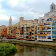 Colorful houses in old town of Girona, Catalonia, Spain — стоковое фото #23953899