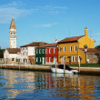 Canal on Burano island, Venice, Italy — Stock Photo #32718185