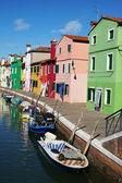 Island of Burano, colorful facades — Zdjęcie stockowe