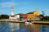 Canal on Burano island, Venice, Italy — Stock Photo