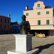 Monument to the composer Baldassare Galuppi, Burano Island, Venice, Italy — Stock Photo