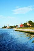 Kanał na burano wyspa, wenecja, włochy — Zdjęcie stockowe