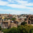 Roman forum, view of the Temple of Romulus  from the Palatine Hill, Rome, Italy — Stock Photo