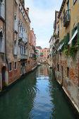 Narrow Venetian canals, Venice, Italy — Stock Photo