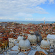 San Marco domes view from the heights, Venice, Italy — Stock Photo