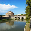 Castle Sant'Angelo and bridge on the Tiber River, Rome, Italy — Stock Photo