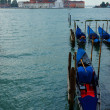 Venice with gondolas on Grand Canal against San Giorgio Maggiore — Stock Photo