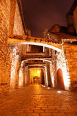 Old streets night in Tallinn. Estonia. Europe — Stock Photo