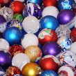 Colorful collection of Christmas Balls useful as a background pa — Stock Photo