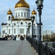 Christ the Savior Cathedral view from the Patriarchal bridge — Lizenzfreies Foto