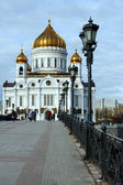 Christ the Savior Cathedral view from the Patriarchal bridge — Stock fotografie