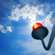 Red beacon on the roof — Stock Photo