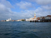 View from the sea at the sights of Venice, Italy — Stock Photo