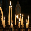 Light church candles — Stok fotoğraf