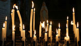 Light church candles — Foto Stock