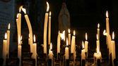 Light church candles — Stock Photo