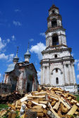 Abandoned Orthodox bell tower — Stock Photo