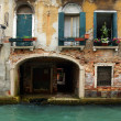 Facade of an old house in Venice, Italy — Stock Photo